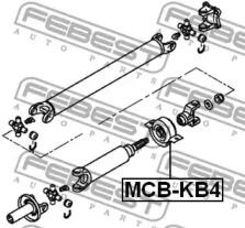 MCBKB4 FEBEST Подшипник, промежуточный подшипник карданного вала -1
