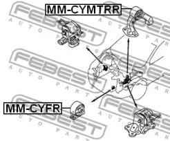 Подушка двигателя зад. (мт) FEBEST MMCYMTRR-1