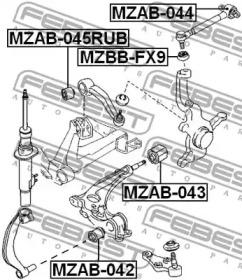Сайлентблок FEBEST MZAB045RUB-1