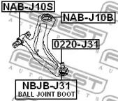 NABJ10S FEBEST Подвеска, рычаг независимой подвески колеса -1