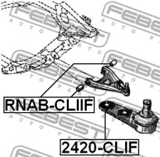 RNABCLIIF FEBEST Подвеска, рычаг независимой подвески колеса -1