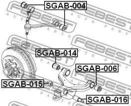 Сайлентблок важеля FEBEST SGAB015-1