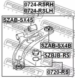 SZABSX4B FEBEST TULEJA WAH. FIAT P. SEIDICI/SX4 1,6/1,9D/2,0D 06- !!!Z TY -1