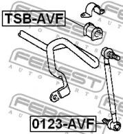 Втулка стабилизатора перед. подвески AVENSIS AZT250/CDT250 03-08 (D22) FEBEST TSBAVF-1