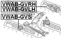 VWABGVS FEBEST Подвеска, рычаг независимой подвески колеса -1