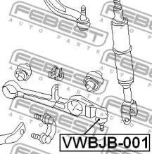 VWBJB001 FEBEST ремонтный комплект, несущие / направляющие шарниры -1