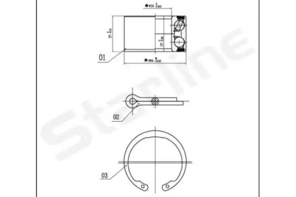 LO00663 STARLINE Комплект подшипника ступицы колеса