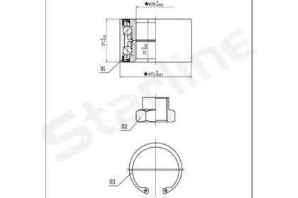 LO01432 STARLINE Комплект подшипника ступицы колеса