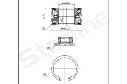 LO03531 STARLINE Комплект подшипника ступицы колеса