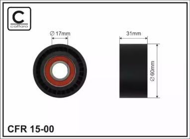 1500 CAFFARO (60x17x31)Ролик паска генер. Opel/Renault1.8/1.9D/2.0/2.2/2.5dCI 02-