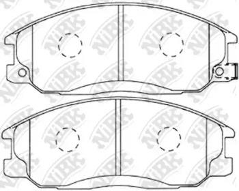 PN0103 NIBK Комплект тормозных колодок, дисковый тормоз