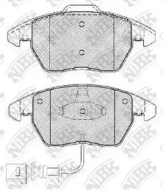 PN0348W NIBK Комплект тормозных колодок, дисковый тормоз