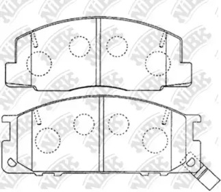 PN1218 NIBK Комплект тормозных колодок, дисковый тормоз