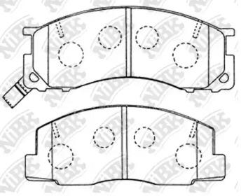 PN1273 NIBK Комплект тормозных колодок, дисковый тормоз