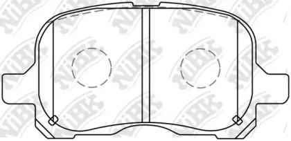 Автозапчасть/nibk Колодки тормозные дисковые pn1302 NIBK PN1302 для авто  с доставкой