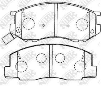 PN1328 NIBK Комплект тормозных колодок, дисковый тормоз