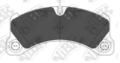 Автозапчасть/Колод. торм. диск. nibk pn35001 NIBK PN35001 для авто  с доставкой