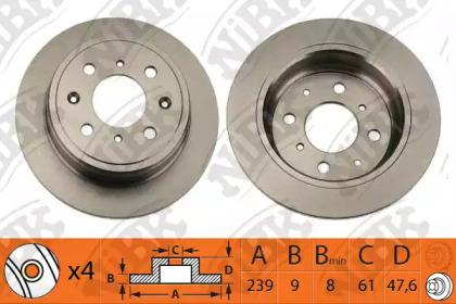 RN1052 NIBK Тормозной диск