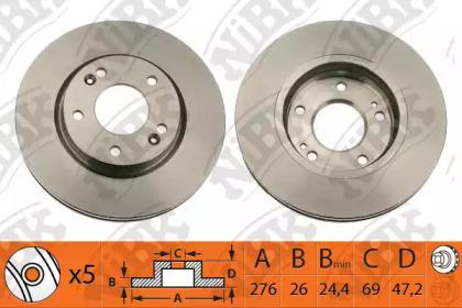 RN1178 NIBK Тормозной диск