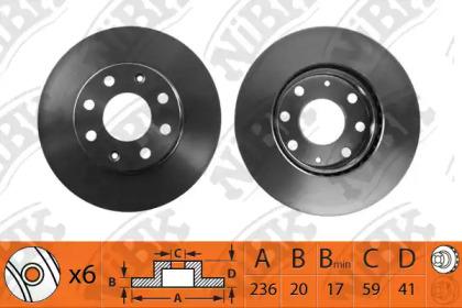RN1206 NIBK Тормозной диск