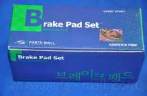 PKA016 PARTS-MALL Комплект тормозных колодок, дисковый тормоз