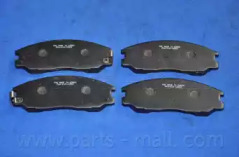 PKA016 PARTS-MALL Комплект тормозных колодок, дисковый тормоз -1