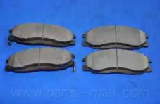 PKA016 PARTS-MALL Комплект тормозных колодок, дисковый тормоз -2