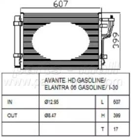 PXNCA082 PARTS-MALL Конденсатор, кондиционер