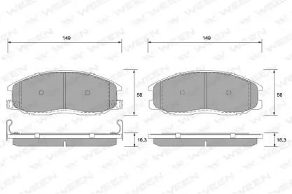 1511168 WEEN Комплект тормозных колодок, дисковый тормоз