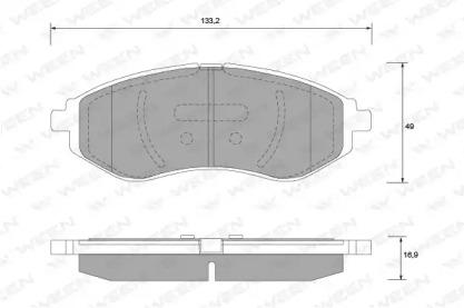 1511179 WEEN Комплект тормозных колодок, дисковый тормоз
