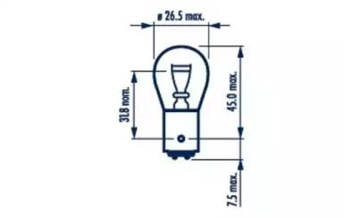 Лампа P21/4W 24V BAZ15d NARVA 17882 для авто  с доставкой