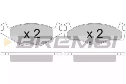 BP2261 BREMSI Комплект тормозных колодок, дисковый тормоз