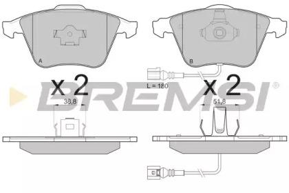 BP3136 BREMSI Комплект тормозных колодок, дисковый тормоз