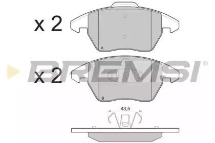 BP3174 BREMSI Комплект тормозных колодок, дисковый тормоз