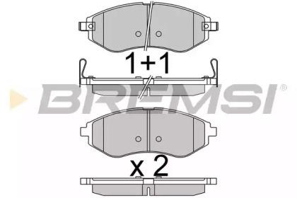 BP3514 BREMSI Комплект тормозных колодок, дисковый тормоз