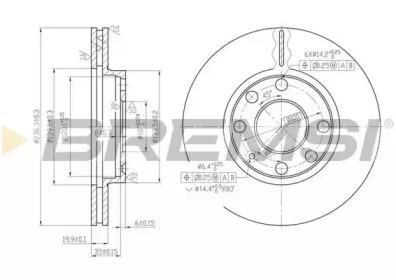 DBA151V BREMSI Тормозной диск