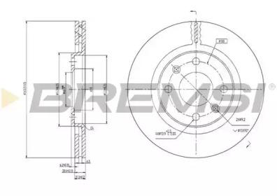 DBA192V BREMSI Тормозной диск