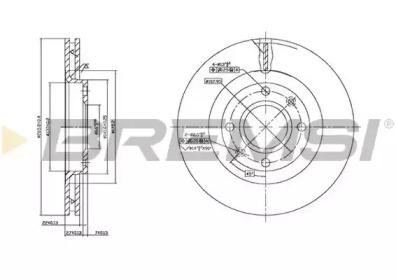 DBB140V BREMSI Тормозной диск