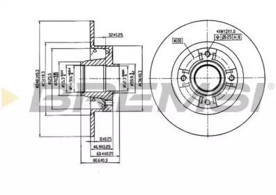 DBB369S BREMSI Тормозной диск