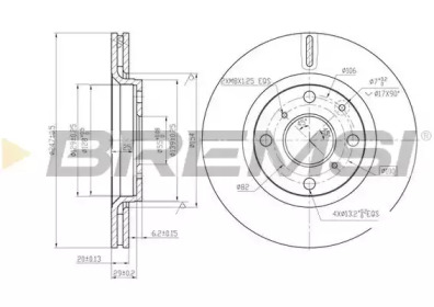 DBB527V BREMSI Тормозной диск