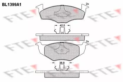 BL1399A1 FTE Комплект тормозных колодок, дисковый тормоз