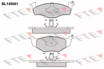 BL1400A1 FTE Комплект тормозных колодок, дисковый тормоз