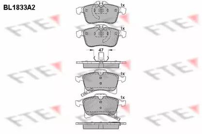 BL1833A2 FTE Комплект тормозных колодок, дисковый тормоз