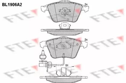 BL1906A2 FTE Комплект тормозных колодок, дисковый тормоз