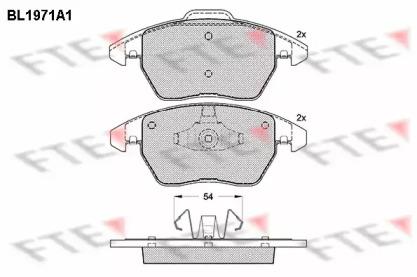 BL1971A1 FTE Комплект тормозных колодок, дисковый тормоз