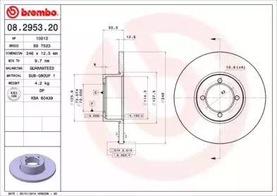 08295320 BREMBO Тормозной диск