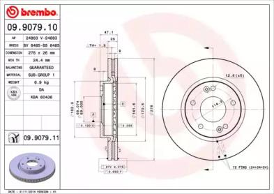 09907910 BREMBO Тормозной диск