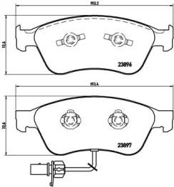P85102 BREMBO Комплект тормозных колодок, дисковый тормоз