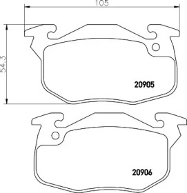 MDB1807 MINTEX Комплект тормозных колодок, дисковый тормоз