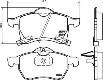 MDB1907 MINTEX Комплект тормозных колодок, дисковый тормоз